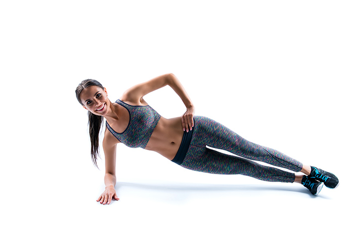 side plank to improve posture