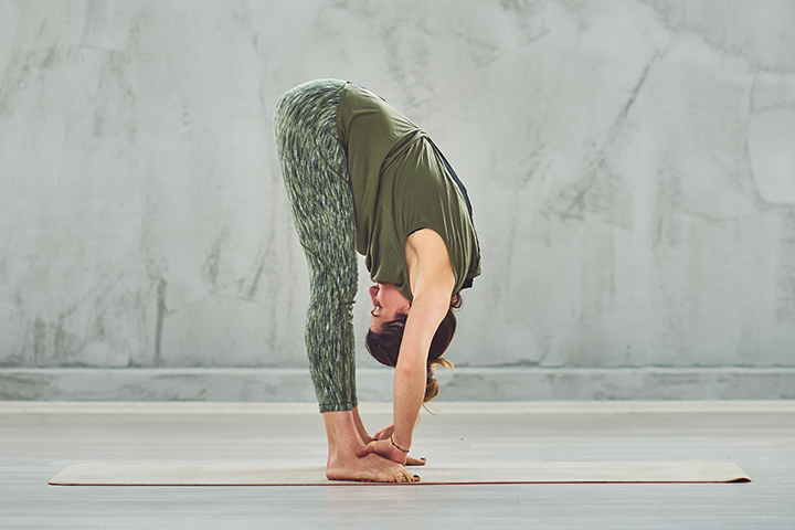 standing forward bend for improve posture