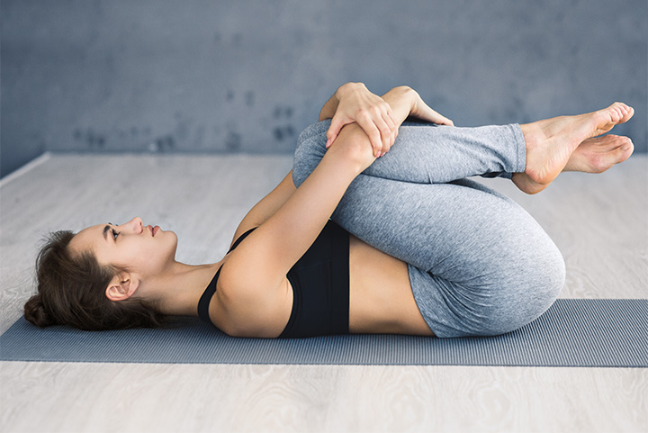 wind relieving pose for gut health