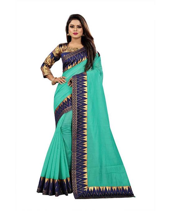 Chanderi Polycotton Saree (Multicolor)