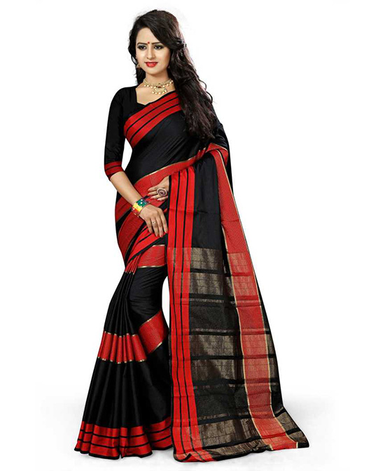 Chanderi Art Silk Saree  (Multicolor)