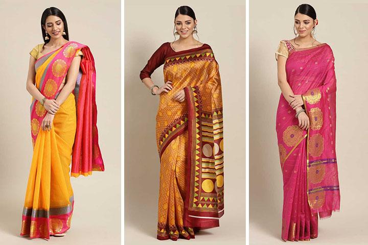 25 Beautiful Chanderi Cotton Sarees – Latest Designs