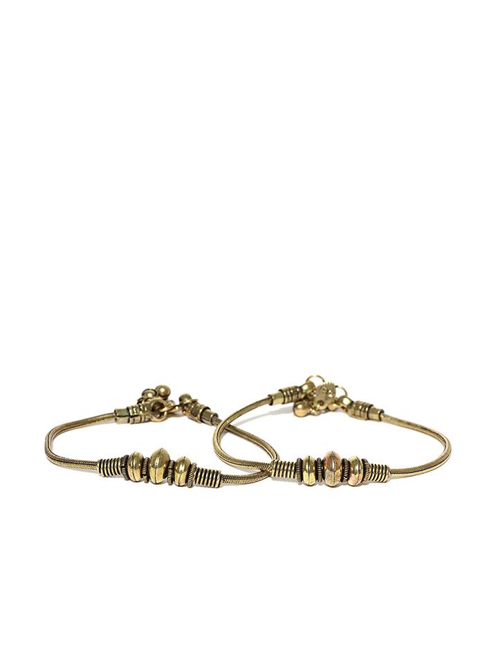 Antique Gold-Toned Anklets