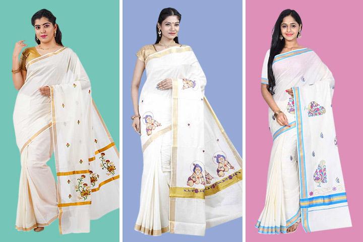 20 Latest Kerala Kasavu Sarees for Traditional Look