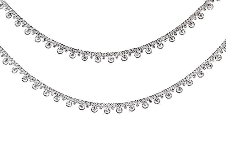 Kutchi Payal Handmade Silver Anklets for Women