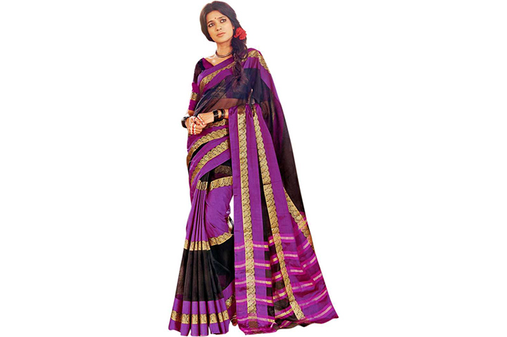 Printed Chettinadu Handloom Cotton Blend Saree (Magenta)