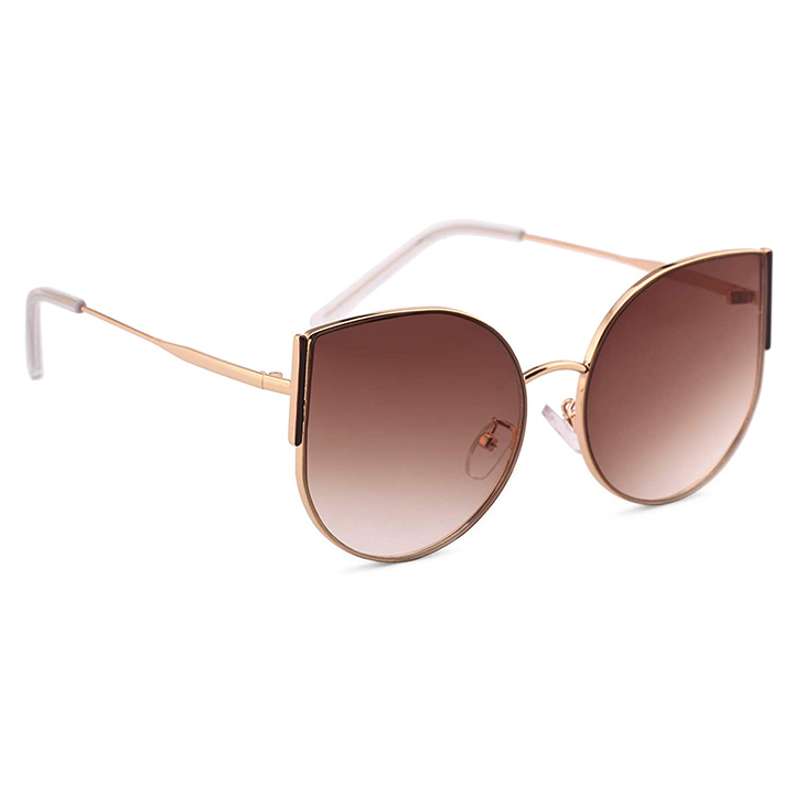 Royal Son Latest Stylish Round Cat Eye Oval Goggles Sunglasses For Women Girls Ladies
