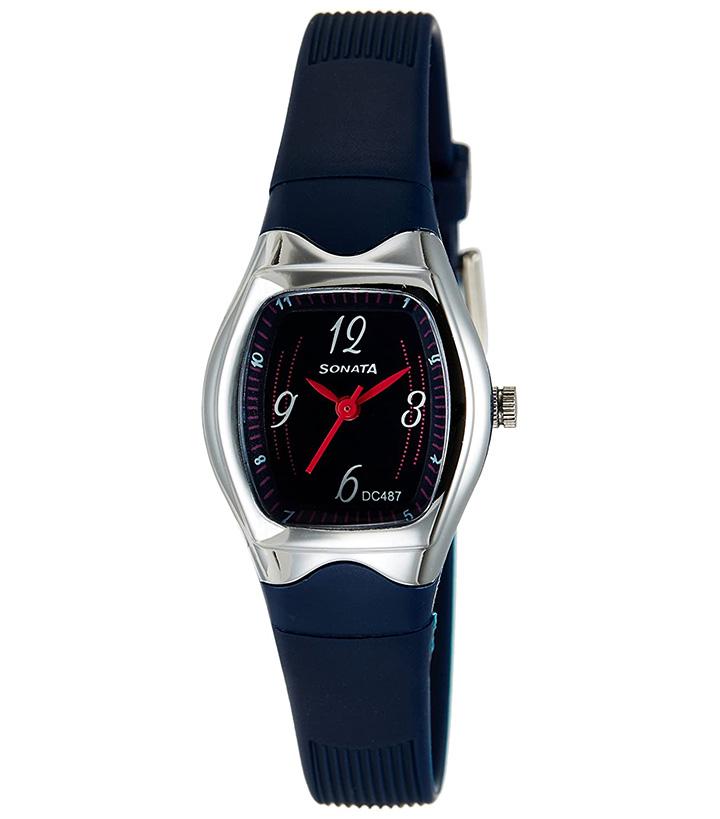 Sonata Analog Blue Dial Women's Watch