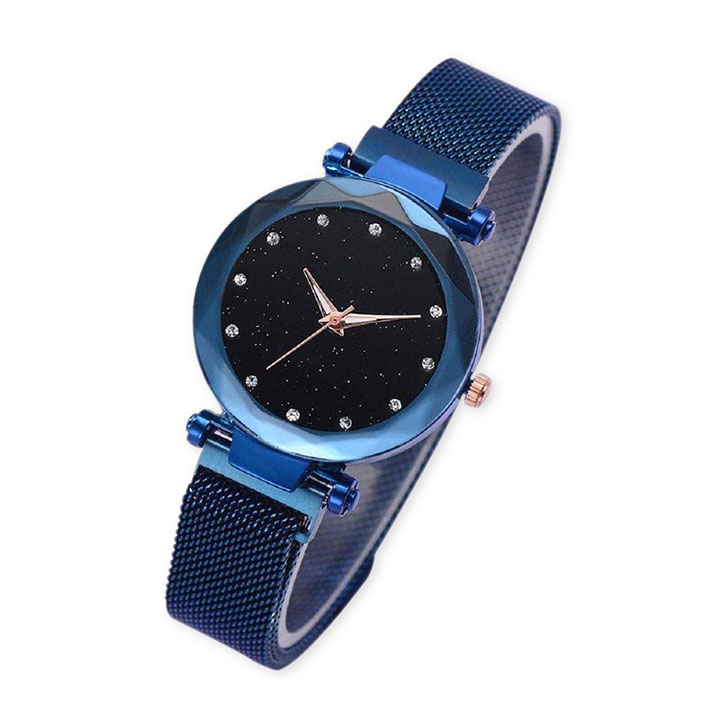 TIMESOON Casual Designer Black Dial Magnet Watch
