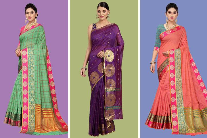 25 Classy Collection of Cotton Silk Chanderi Sarees