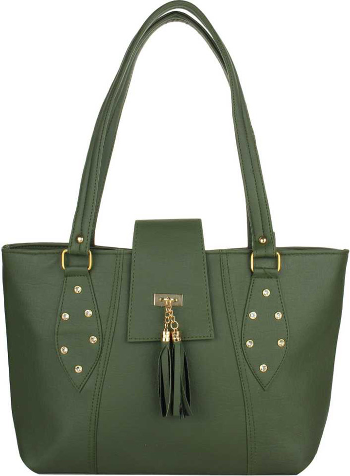 Women Green Shoulder Bag