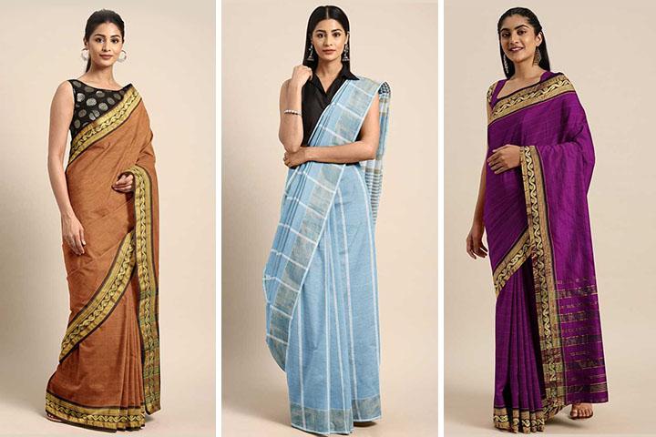 Top 20 Beautiful Gadwal Cotton Sarees for Women