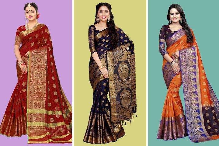 30 Latest Collection of Kanjivaram Sarees for Bride