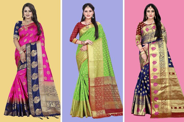 Top 30 Collection of Kanjivaram Silk Sarees – Shop Kanjivaram Silk Sarees Online