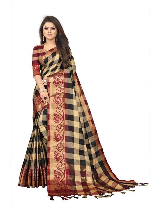 Art Silk Coimbatore Jacquard, Saree