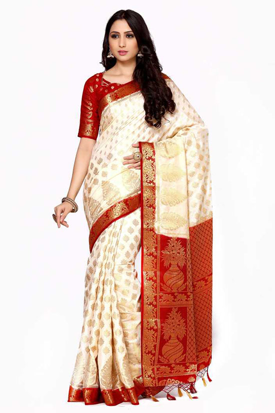 Banarasi Art Silk Beige Colour Saree