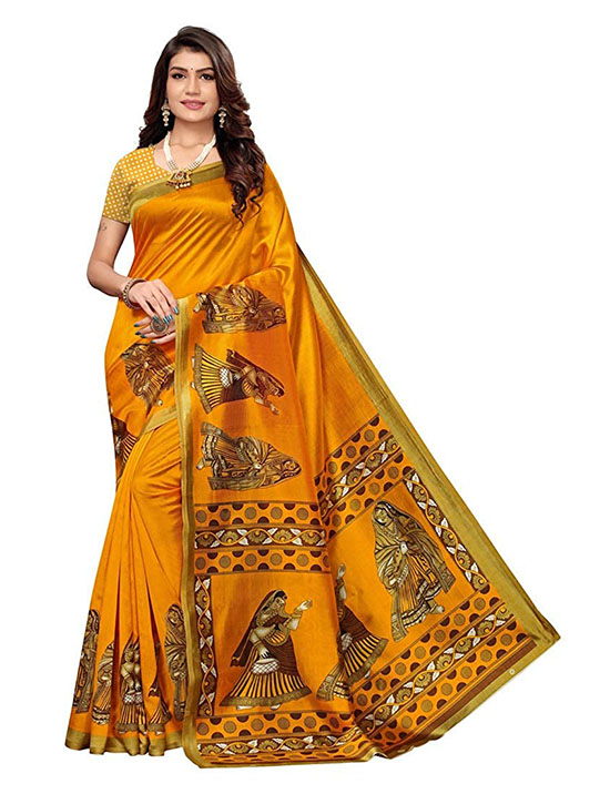 Banarasi Kora Silk Saree With Blouse Piece