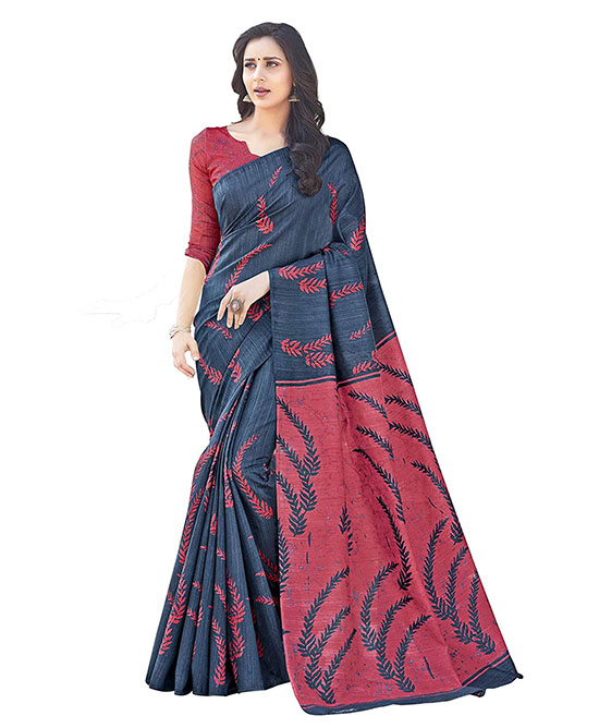 Bhagalpuri Kora Silk Saree