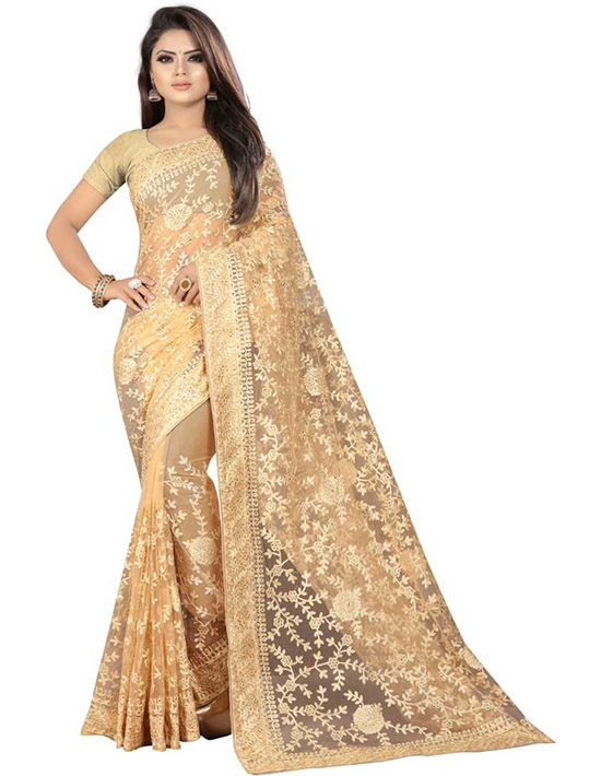 Bollywood Net BEige Color Saree