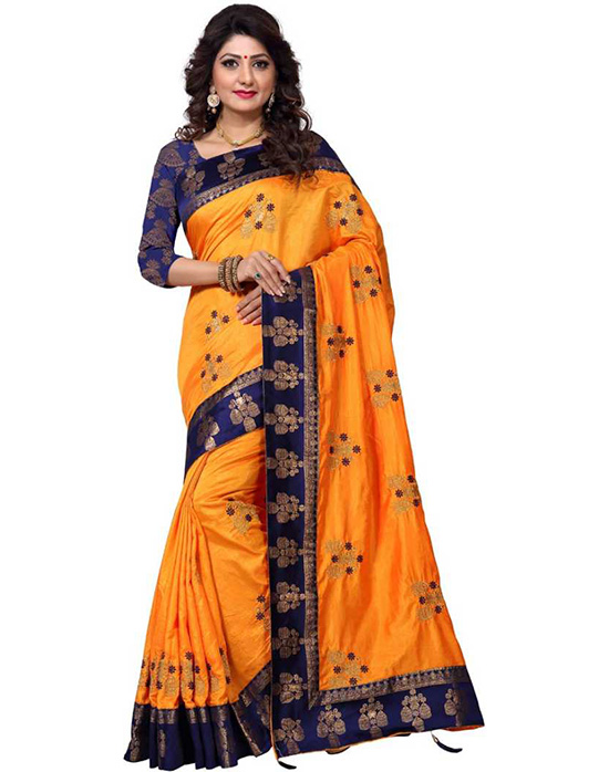 Bollywood Pure Silk Mustard Saree