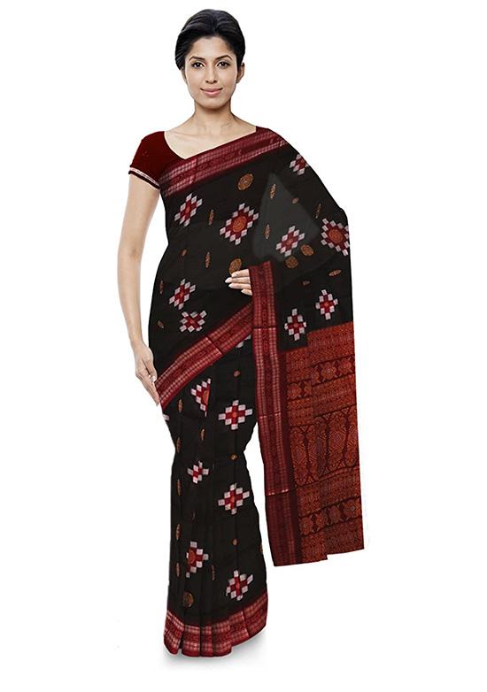 Bomkai Handloom Cotton Multi Coloured Saree