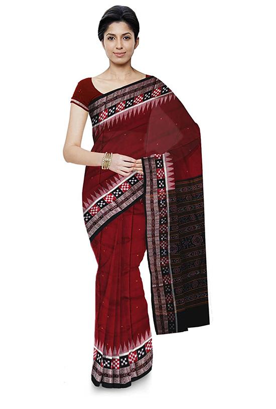 Bomkai Handloom Multi Colour Cotton Saree
