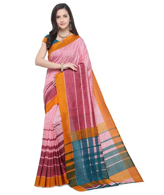 Chinnalapattu Art Silk, Poly Silk Saree (Pink