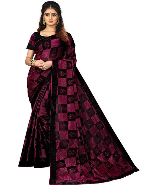 Chinnalapattu Art Silk Saree Maroon