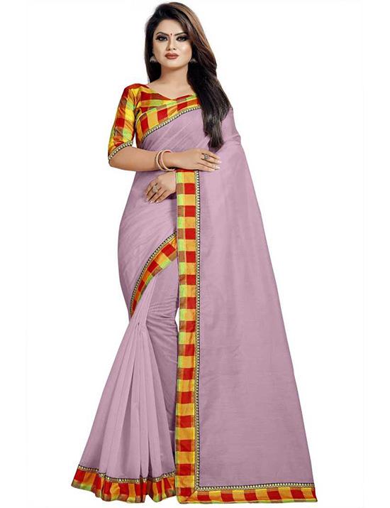 Chinnalapattu Cotton Silk Saree Multicolor)