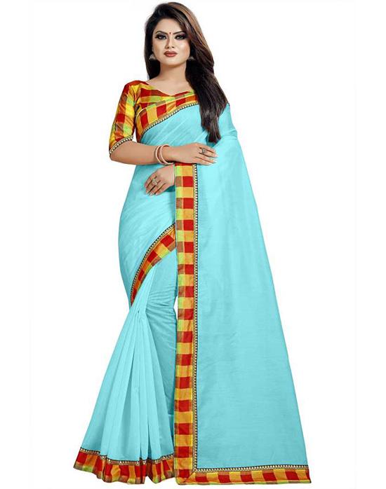 Chinnalapattu Cotton Silk Saree Multicolor