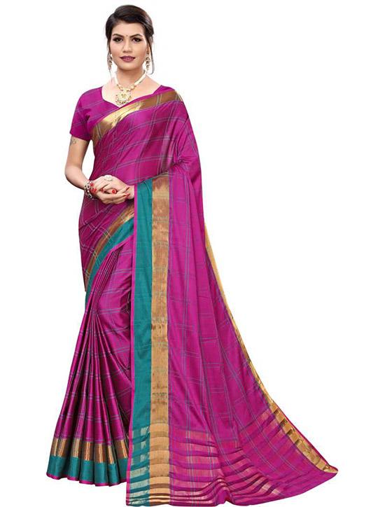 Chinnalapattu Cotton Silk Saree Purple
