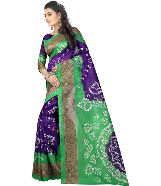 Chinnalapattu Silk Blend Saree Green
