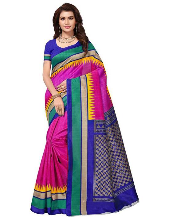 Chinnalapattu Silk Blend Saree Magenta