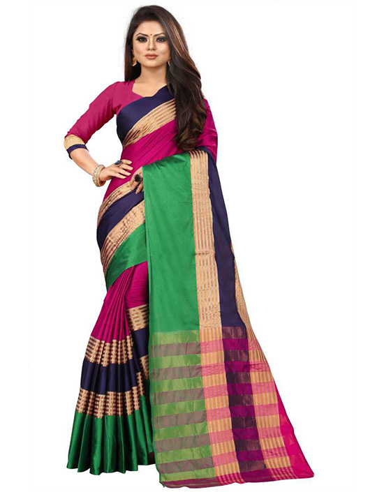 Coimbatore Cotton Linen Blend, Art Silk Saree
