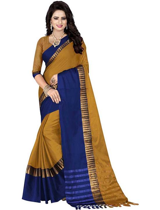 Coimbatore Cotton Silk SareeGold