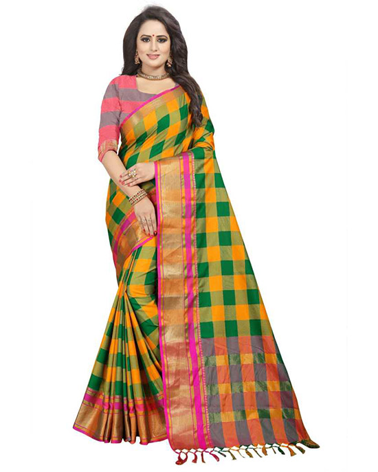 Coimbatore Cotton Silk Saree