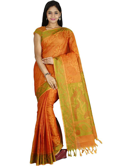 Coimbatore Handloom Cotton Blend Saree