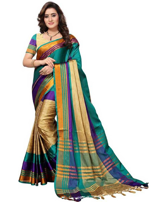 Coimbatore Polycotton, Cotton Silk Saree
