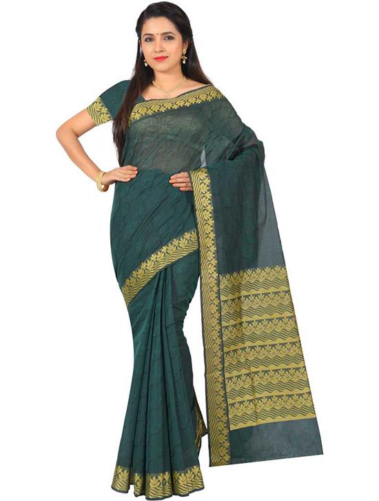 Coimbatore Pure Cotton Saree Green