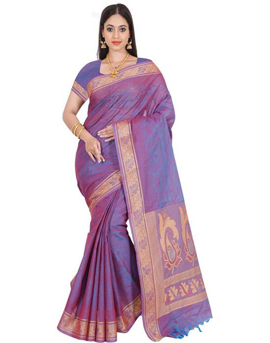 Coimbatore Pure Cotton Saree Purple