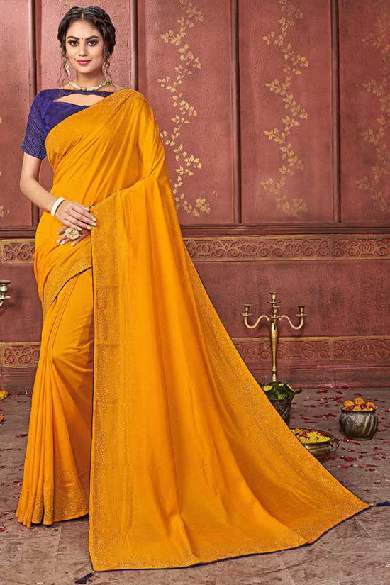 Coimbatore Silk Blend Saree Yellow