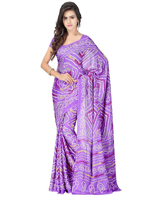Crepe Silk Lavender Saree