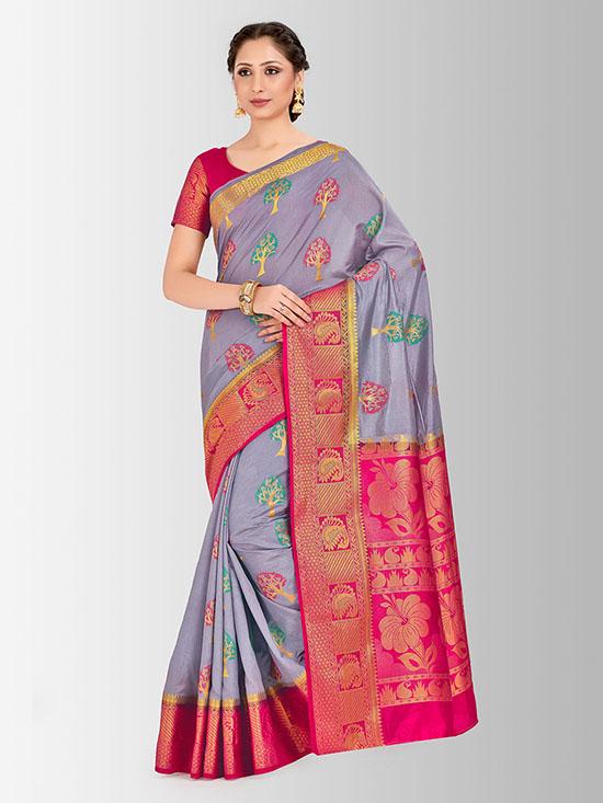 Embellished Paithani Lavender Saree