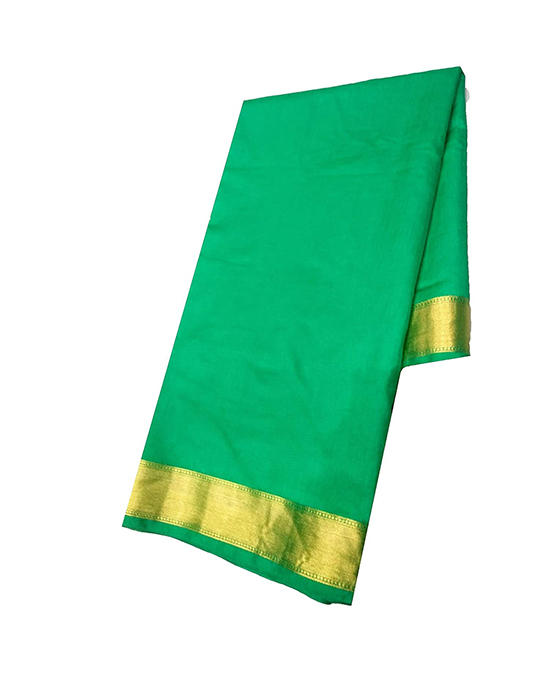 Green Kora Muslin Saree for Women