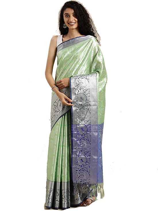 Green Kora Muslin Silk Saree