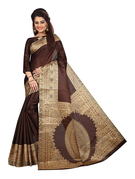 Khadi Kora Silk Saree With Blouse Piece