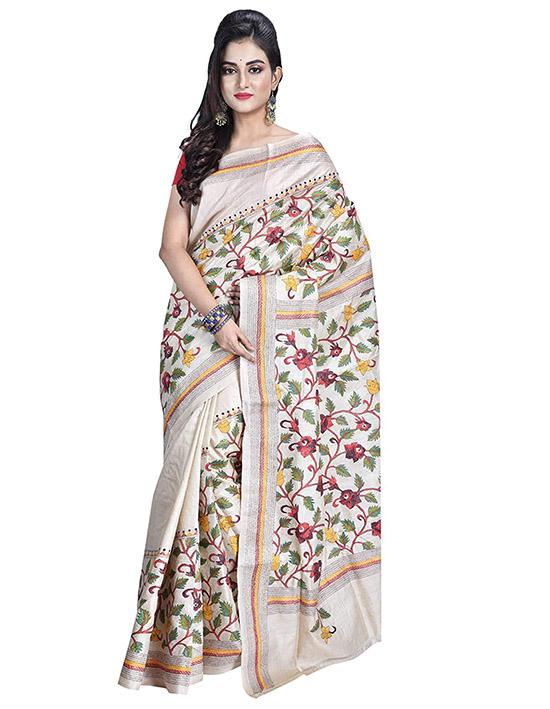 Kosa Silk Saree With Unstitched Blouse Piece