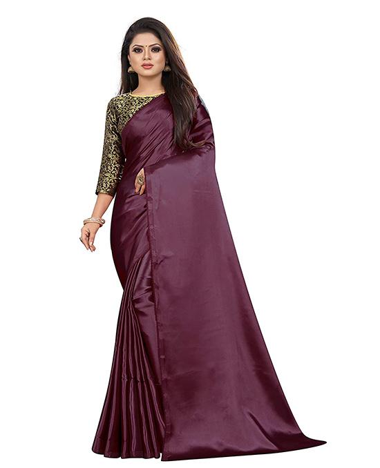 Kosa Silk Satin Saree