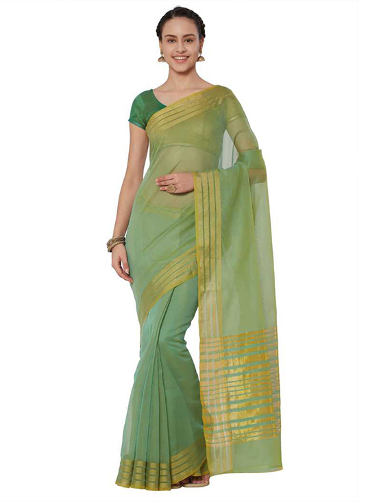 Kota  Green Doria Cotton Silk Saree