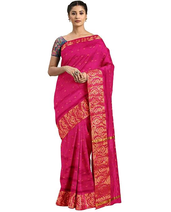 Molakalmuru Poly Silk Saree (Pink